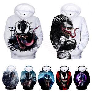 Marvel Venom Spiderman Pullover Hoodies Sweatshirts Halloween Cosplay Costume