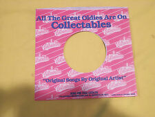 Vintage COLLECTABLES 45 RPM Sleeves -  NO Seam Splits Stickers or Writing - MINT