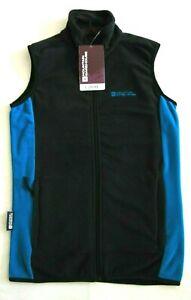 Mountain Warehouse Womens Zipped Grove Gilet Black & Blue Size 6 BNWT RRP £29.99