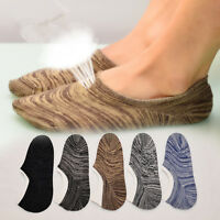 10 Pairs Mens Invisible Nonslip Ankle Loafer No Show Low Cut Cotton Boat Socks