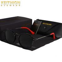 KEITHION Fashion Polarized Unisex Sunglasses Vintage Retro Round UV400 Eyewear