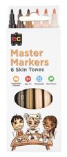 Master Skin Tone Markers Pk 6 Artist Teacher Resource Texters Markers Pens