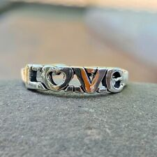 Design Band Toe Ring New Adjustable Sterling Silver Solid Antiqued Love Script