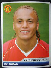 Panini 61 Wes Brown Manchester United UEFA CL 2006/07