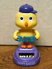 New For 2020- Solar Powered Dancing Toy Bobble Head Easter - Chick