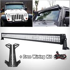 52inch 700W LED Light Bar+Mount Bracket Fit For Jeep Wrangler JK 2007~17 Rubicon