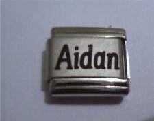 9mm Classic Size Italian Charm  Names -  Name Aidan