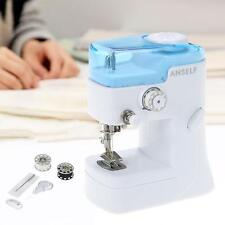 Anself Electric Sewing Machine Portable for Clothing Toy White + Light Blue D0H3
