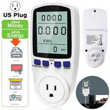 Digital Power Saving Energy Electricity Monitor Watt Amp Kwh Volt Meter Analyzer