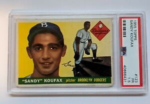 1955 Topps Sandy Koufax RC PSA 1.5 Rookie Card.  Under Graded!  Vibrant Color!