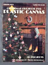 Christmas Projects Plastic Canvas 1979 Leisure Arts Craft Booklet 20 Projects