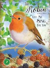 The Robin, British Wildlife Collection Wild Bird. Large Metal/Steel Wall Sign