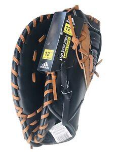 "Adidas Triple Stripe First Base Mitt 12"" Cowhide Palm Leather New LHT"