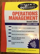 Schaum's Outline of Operations Management by Joseph Monks (1996, Paperback, Revi