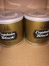 2 PIPE TOBACCO TIN FULL CAPTAIN BLACK GOLD