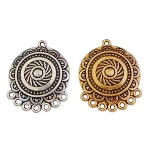 10 x Antique Silver/Gold Chandelier Earring Connectors Links Charms Pendants