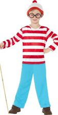 7-9 Boys Where's Wally Costume New World Book Day Week Fancy Dress Outfit