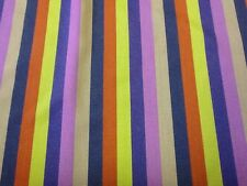 Blue, Purple, Green And Orange Wool Fabric By The Metre