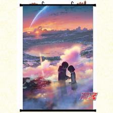 Anime Kimi no Na Wa Your Name Wallscroll Tapete Stoffposter Geschenk 60x90CM