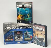 Silent Hunter: Wolves of the Pacific (2007)& Strategic Simulation Games lot of 3