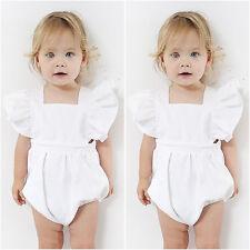 0-6M Infant Baby Girl Playsuit Bodysuit Top Romper Sunsuit Jumpsuit Outfits