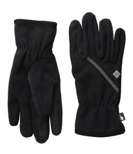 Womens Columbia Omni Wind Bloc Touch Screen Warm Winter Gloves Black L or XL New