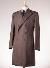 New OZWALD BOATENG BESPOKE COUTURE Brown Melange Tweed Wool Overcoat 40 R Coat