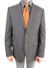 HUGO BOSS Super 100 Wool Tailored US42 EU52 Tweed Suit Striped Jacket Blazer AS8