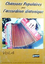 Accordéon diatonique Tablatures Chansons populaires v.4 neuf avec CD