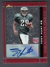 Tony Hunt 2007 Topps Finest Rookie Auto Card #123 Eagles