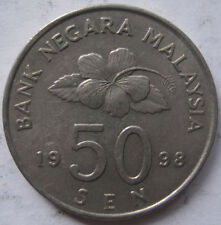 Second Series 50 sen coin 1998