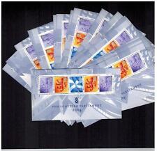 50 x miniature feuille Parlement écossais 2004 um MSS132 FV £ 136