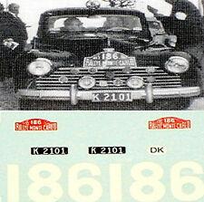 PEUGEOT 203 RALLYE MONTE-CARLO 1955 #186 - 1:43 autocollant décalcomanie