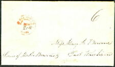 MASSACHUSETTS, N. Falmouth, 1845, red cds w/ms 20th day