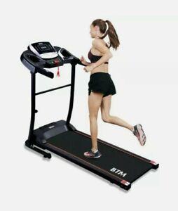 Motorised electric treadmill Motor Folding Running machine 12 Pre-Program BTM UK