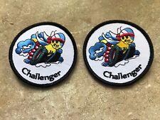 1969 - 1974 2007 - 2018 DODGE CHALLENGER SCAT PACK BEE ON WHEELS LOGO PATCHES 2X