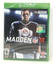 MADDEN 18 NFL XBOX ONE NEW FACTORY SEALED TOM BRADY