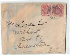 SOUTH AFRICA 2v COAT OF ARMS ON COVER TO QUEENSTOWN