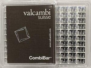 (10) 1 gram Silver Bars - Valcambi- 999.5 Fine