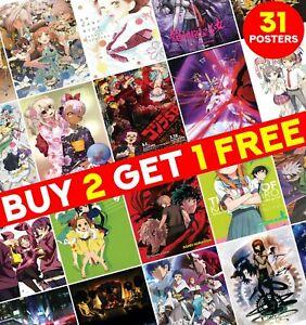 Random Anime Manga Posters Prints Part 1 Art Print Wall Home Room Decor ED004