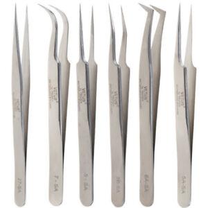 Stainless Steel False Eyelash Extension tools Tweezers Russian 3D Volume Lash