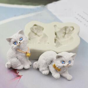 Cat Silicone Cake Chocolate Baking Sugarcraft Mould Fondant Decor Soap Wax Mold
