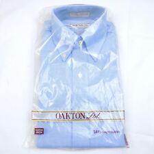 Vintage Oakton Sears Dress Shirt Men's 14.5 Short Sleeve Blue