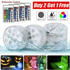 Submersible Timer Led Lights Waterproof Tub Pond Pool Party Remote Lamp Decor Us