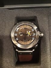 DIESEL Men's Swiss Limited Edition Brown Leather Strap Watch 58mm DZS0001 NEW