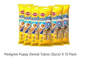 Pedigree Puppy Dental Tubos (3pcs) X 12 Pack