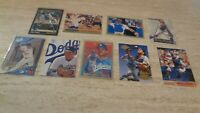 Lot of 9 Different 1990's Mike Piazza Cards - Los Angeles Dodgers - NRMT-MT