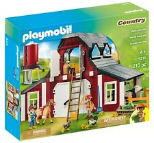 PLAYMOBIL Barn with Silo Farm Set Playhouse