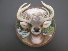 3D Deer Head Plate 1st Issue Nature's Nobility The Buck #04072 Bradford Exchange