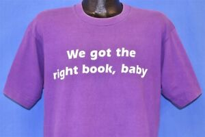 vtg 90s PRENTICE HALL COLLEGE WE GOT THE RIGHT BOOK BABY PEPSI SPOOF t-shirt L
